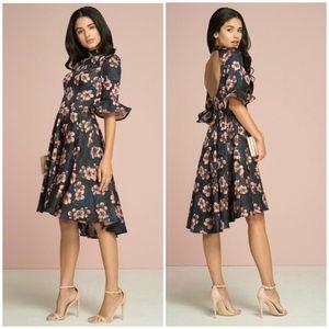 Chi Chi London Christie Floral Jacquard Dress